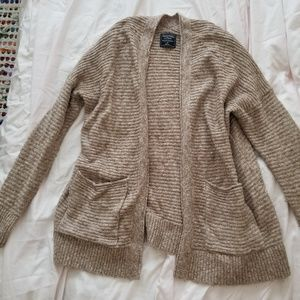 Abercrombie and Fitch tan sweater cardigan